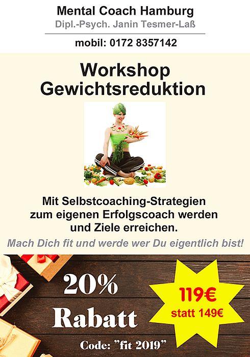 20% Rabatt: Workshop Gewichtsreduktion
