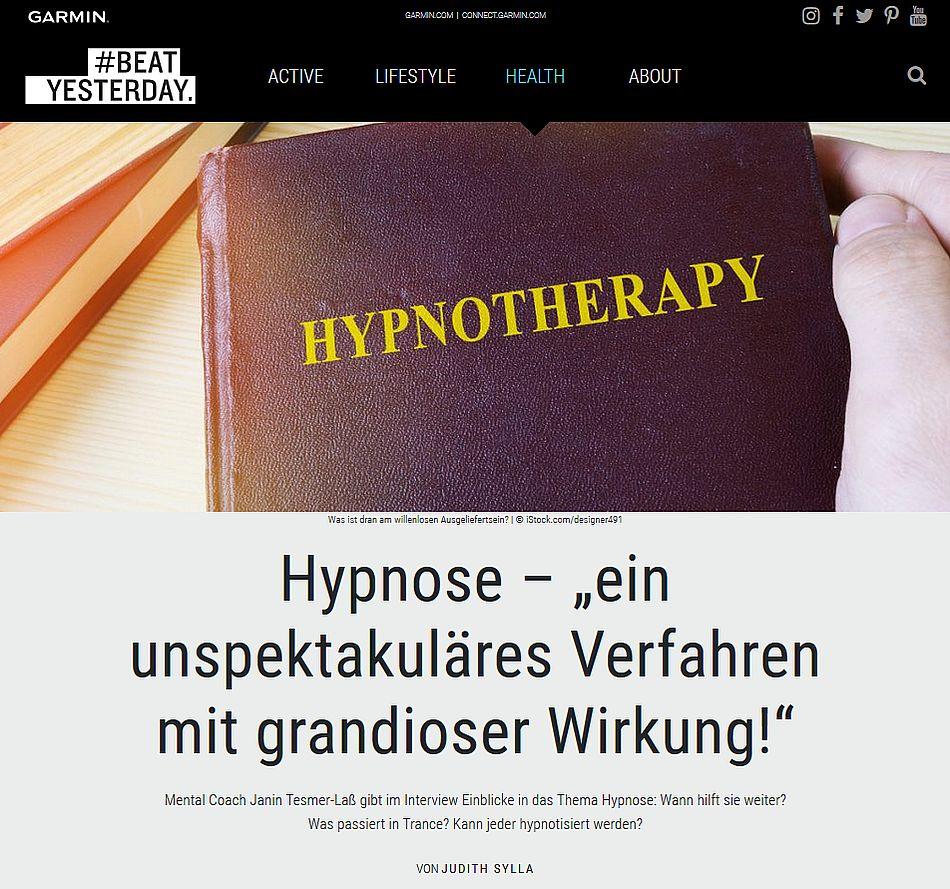 """Hypnose - """"ein unspektakuläres Verfahren mit grandioser Wirkung!"""""""